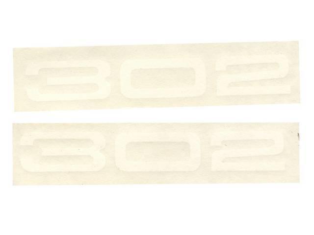 DECALS, Fender, 302, white, repro, pair