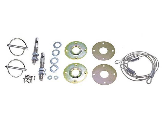 HOOD PIN KIT, Includes all necessary parts, a