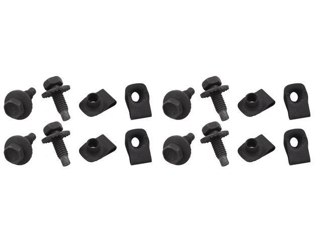 MOUNTING KIT Hood Latch Support Brace concours 9