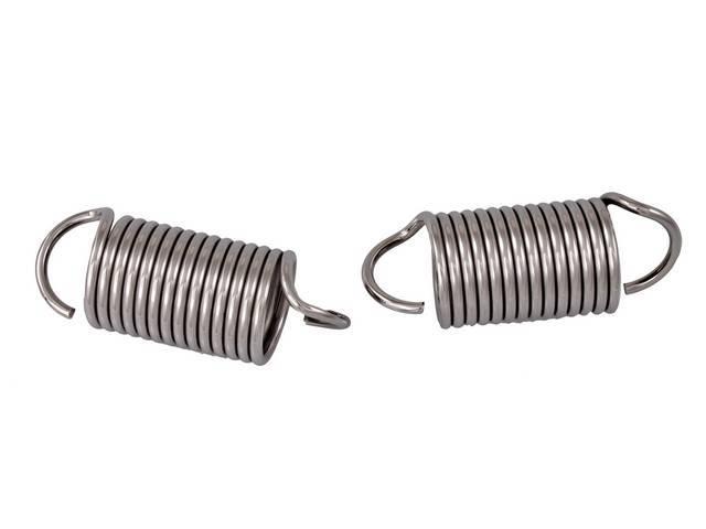 SPRINGS, Hood Hinge, polished stainless steel, pair, C3OZ-16789-A