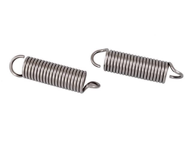 SPRINGS, Hood Hinge, polished stainless steel, pair, reduced