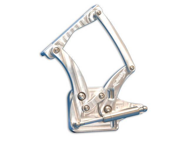 HOOD HINGES Custom Billet Aluminum raw machined finish