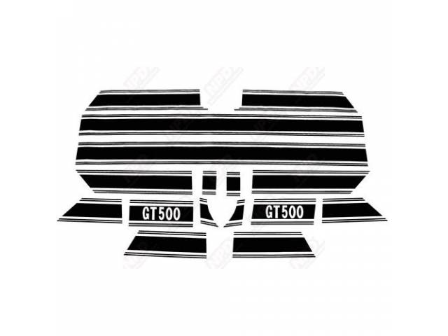 STRIPE KIT GT-500 BLACK