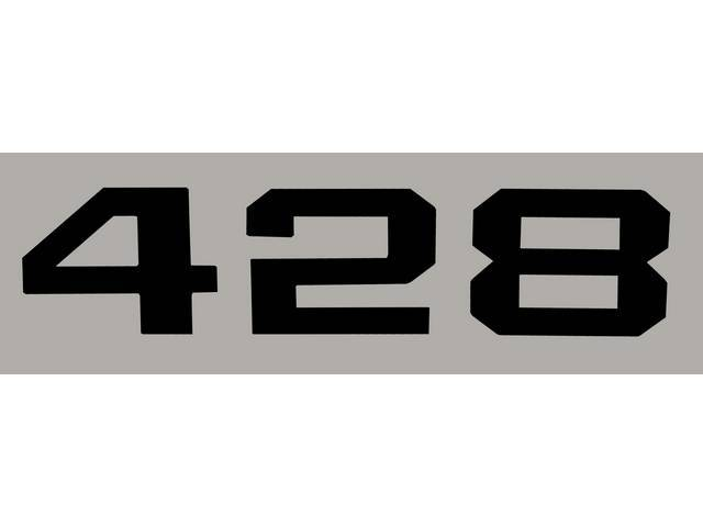 DECAL, *428* HOOD EMBLEM, BLACK, RH OR LH