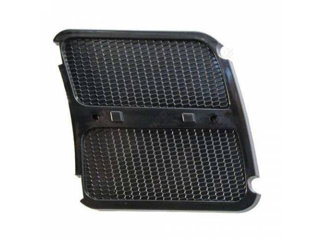 GRILLE FENDER EXTENSION LH PLASTIC REPRO FITS INSIDE