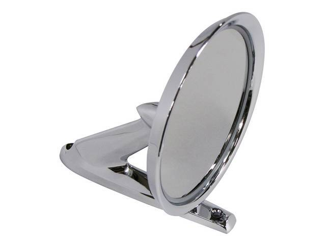 MIRROR, OUTSIDE, MANUAL, ROUND HEAD