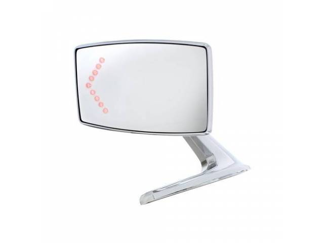 MIRROR Outside Rectangular manual LED Turn signal LH
