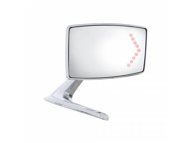MIRROR Outside Rectangular Convex manual LED Turn signal