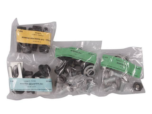 MOUNTING KIT, Bumper, concours, (48), correct bolts for