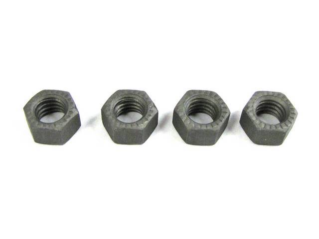 MOUNTING KIT, REAR SHOCK, CONCOURS, (4), SERRATED HEX