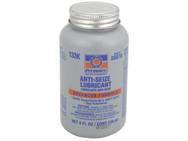 LUBRICANT Anti-Seize Permatex 8 oz brush top bottle