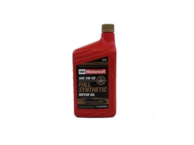 SAE 5W20 FULL SYNTHETIC MOTOR OIL, MOTORCRAFT