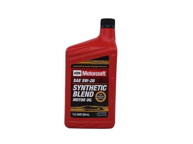 SAE 5W20 PREMIUM SYNTHETIC BLEND MOTOR OIL, MOTORCRAFT