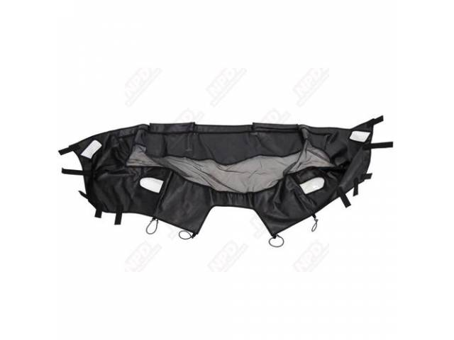 BRA, FRONT END MASK, BLACK