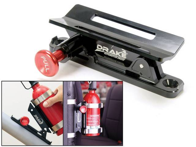 MOUNT, Fire Extinguisher, custom, machined from billet aluminum