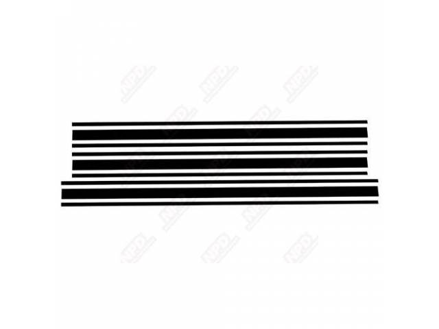 STRIPE KIT, FORD RACING ACCESSORY, BLACK, SOLD OVER