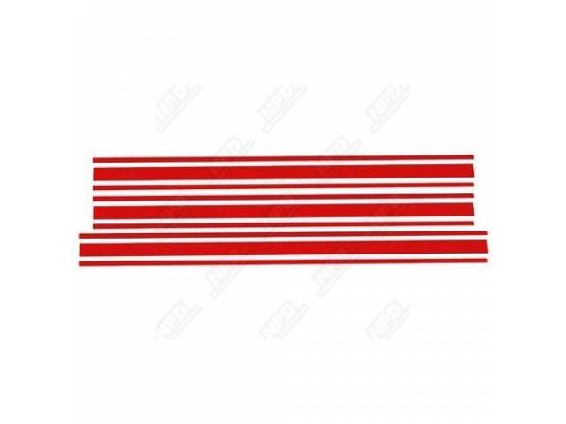 STRIPE KIT FORD RACING ACCESSORY RED SOLD OVER
