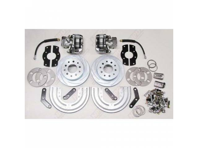 REAR DISC BRAKE CONVERSION KIT SLOTTED / PLATED