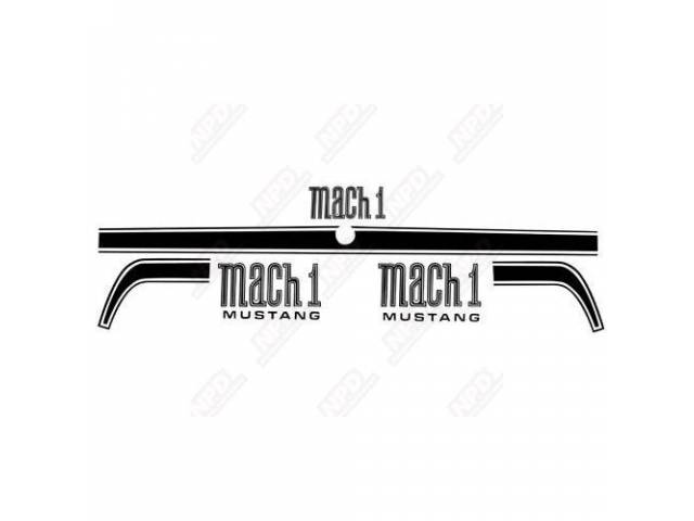 STRIPE SET, MACH 1, BLACK, FENDER *MACH 1*
