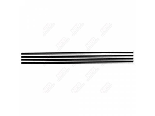 LOWER STRIPE KIT BLACK DUAL AT LOWER ACCENT