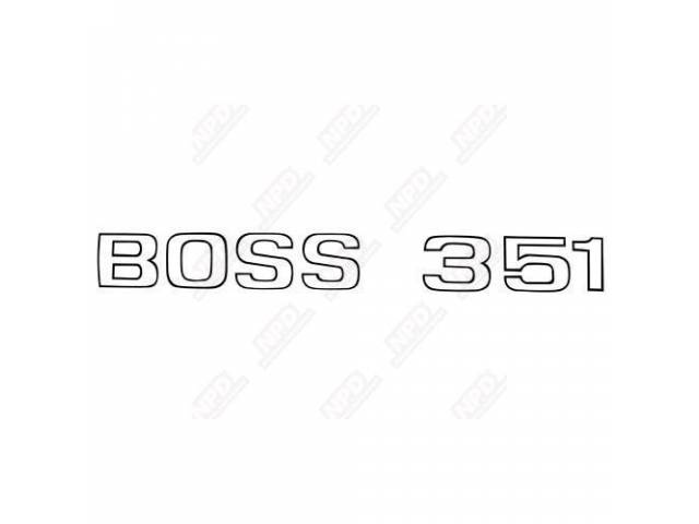 LETTER SET, TRUNK, BOSS 351, BLACK