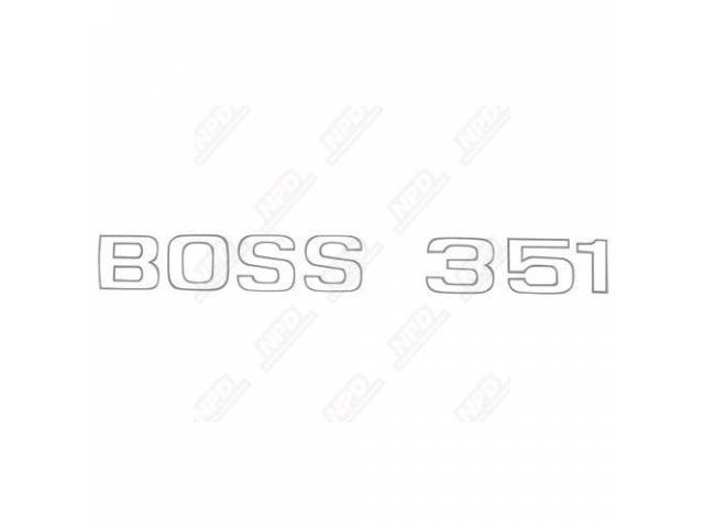 LETTER SET TRUNK BOSS 351 ARGENT