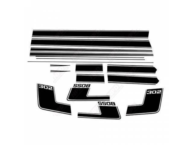 STRIPE SET BOSS 302 BLACK REFLECTIVE C9ZZ-6320000-V