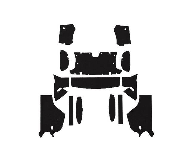 ACOUSTI-SHIELD SET, Body Side Panel, sound and thermal