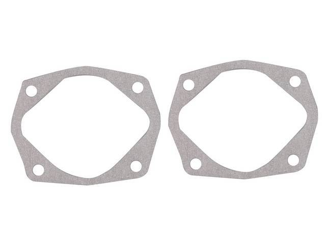 GASKETS, BACKING PLATE, FRONT DRUM