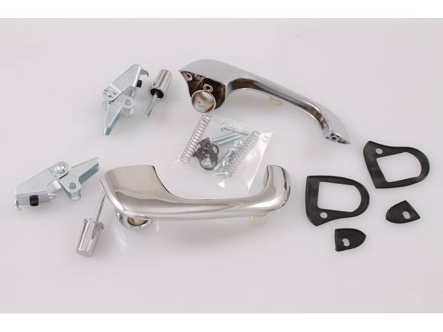 OUTSIDE DOOR HANDLE AND BUTTON KIT, BEST REPRO,