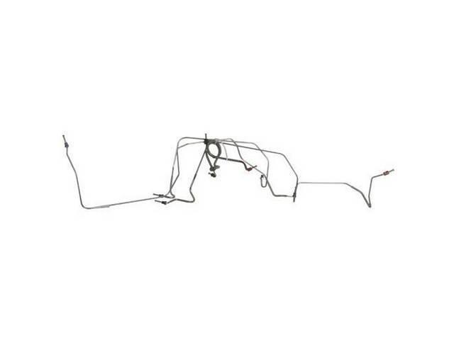BRAKE LINE SET, FRONT DRUM, stainless steel, (5),