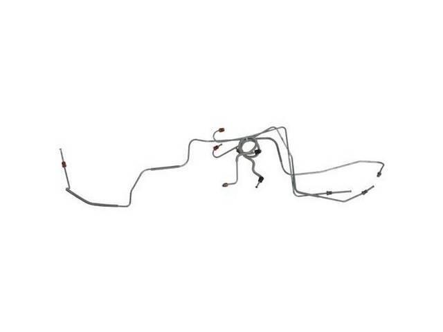 BRAKE LINE SET, Front Drum, carbon steel, (5),