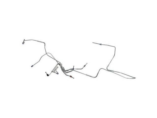 BRAKE LINE SET, Front Disc, carbon steel, (4),