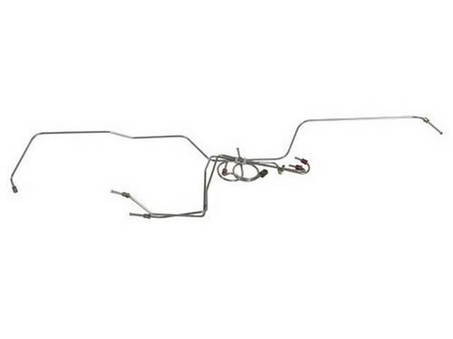 BRAKE LINE SET, FRONT DRUM, stainless steel, LINE