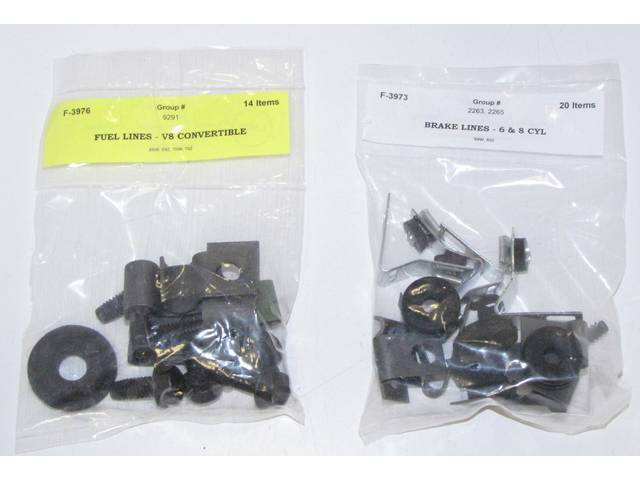 CLIP SET, BRAKE AND FUEL LINE, CONCOURS CORRECT,