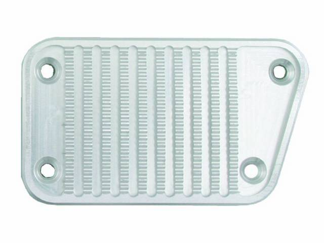 COVER, BRAKE PEDAL, CUSTOM BILLET ALUMINUM WITH CLEAR
