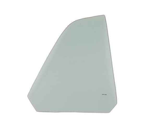 GLASS Quarter Window tempered RH green tint repro