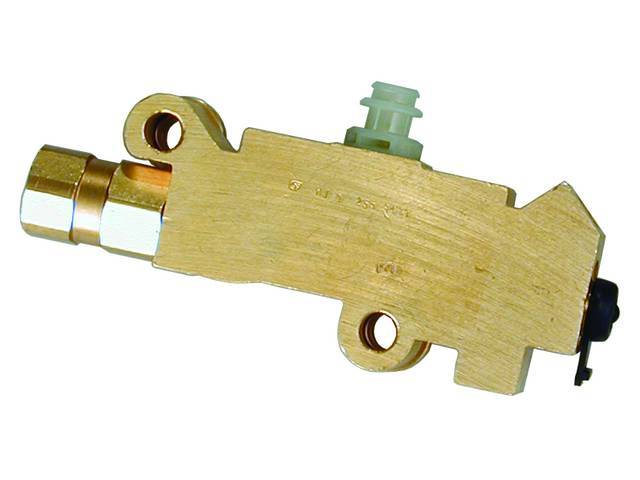 COMBINATION VALVE, Brass, combines a distribution block with