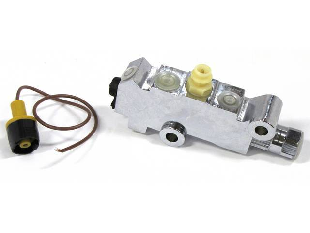COMBINATION VALVE, Chrome, combines a distribution block with