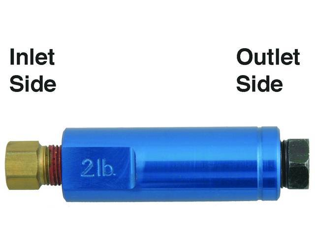 RESIDUAL PRESSURE VALVE, 2 LBS, REQUIRED FOR USE