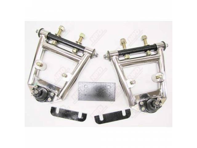 UPPER CONTROL ARM SET NEGATIVE ROLL POLISHED STAINLESS