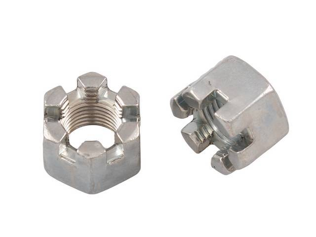 NUT, CASTLE,  PAIR, 9/16 INCH-18, 7/8 INCH