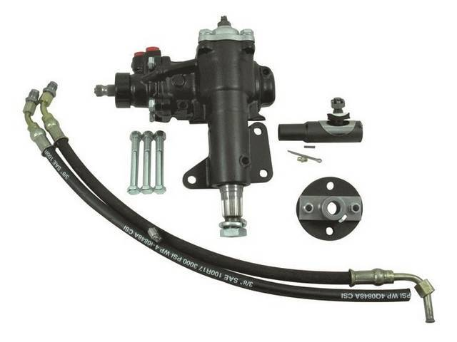 POWER STEERING CONVERSION KIT, Borgeson Box, 14:1 quick