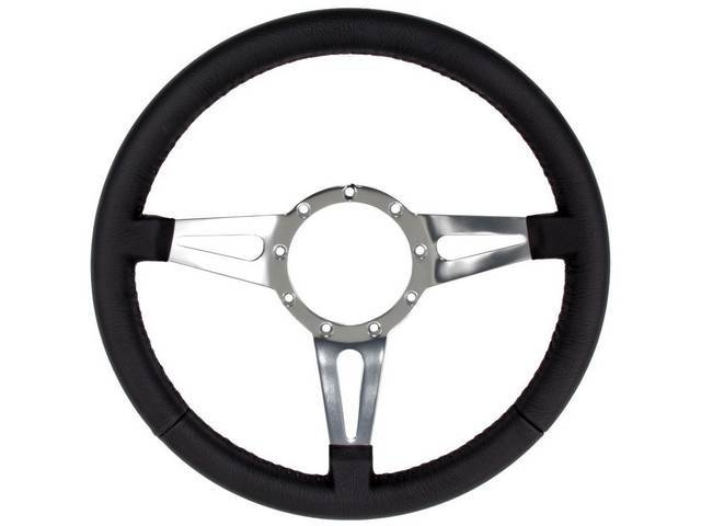 STEERING WHEEL, Leather Look rim, 3 spoke, tear