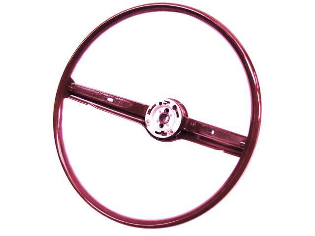 STEERING WHEEL, 2 SPOKE, MAROON, C8AZ-3600-A2D