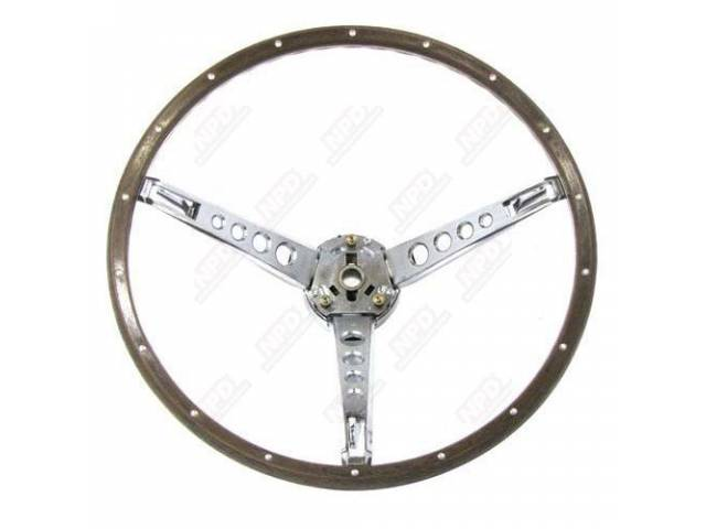 1965-66 Mustang Woodgrain Steering Wheel Kit Reproduction