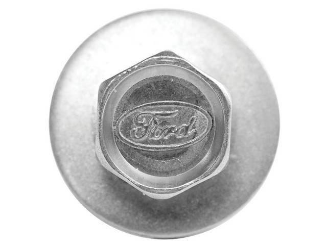 BOLT, Exact Fender, Ford logo head stamp, zinc,