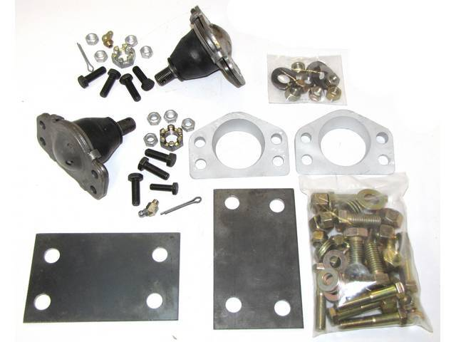Negative camber wedge kit, 1 inch, Mustang, Shelby