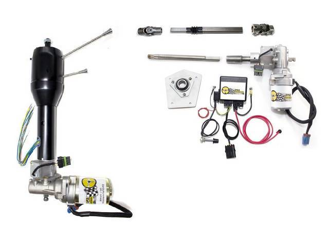POWER STEERING CONVERSION, Electric, Tilt column, black powdercoated