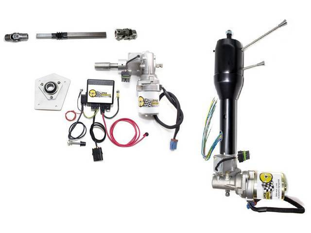 POWER STEERING CONVERSION, Electric, Tilt column, black powdercoated